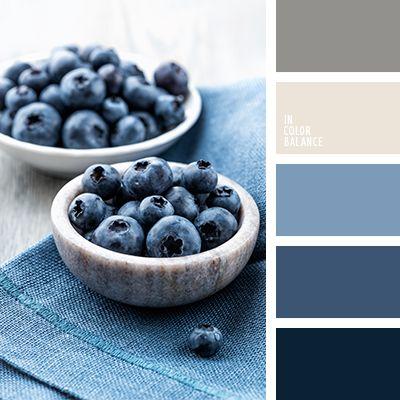 Los matices del azul de esta paleta contrastan maravillosamente con el blanco y el beige grisáceo.  Tal combinación de tonos pastel se asocia a la estabilidad, calma y confort.  Le dará un toque elegante y sofisticado a tu despacho o cuarto de baño.