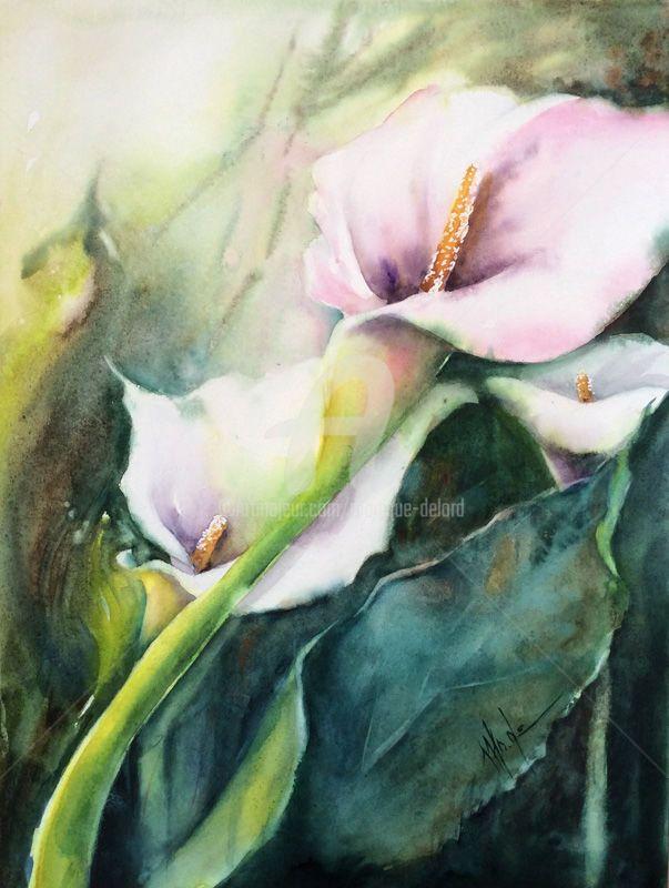 Immagine Acquerello Floreale Di Renata Su Art Fiore Ad