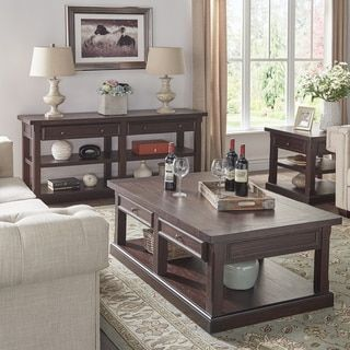 Shop for Jenson Espresso Wood Accent Tables by TRIBECCA HOME. Get free shipping at Overstock.com - Your Online Furniture Outlet Store! Get 5% in rewards with Club O!