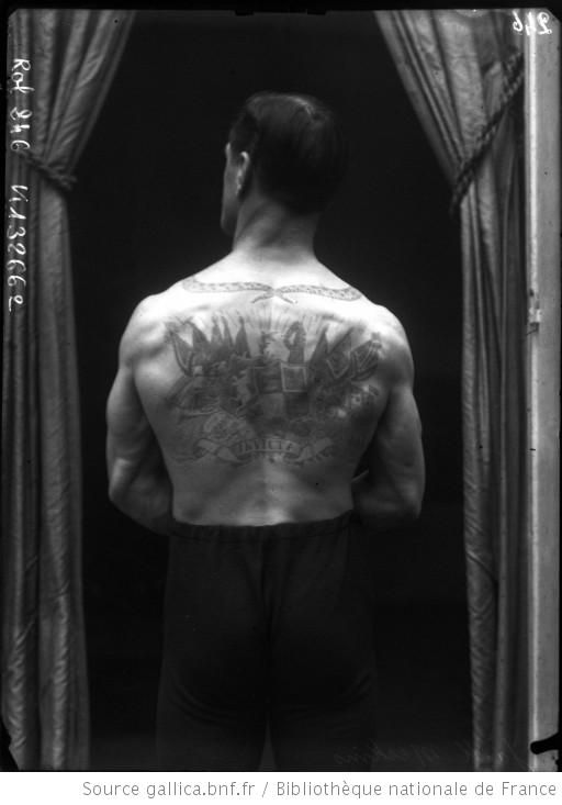 Jack Meekins, boxeur tatoué, 1908