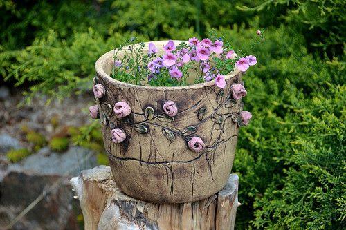 velký květináč-pnoucí růže-na objednávku! / Zboží prodejce lavender | Fler.cz