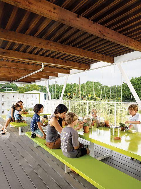 Innovative Classroom Design Ideas ~ Architect built outdoor classroom for gardening program at