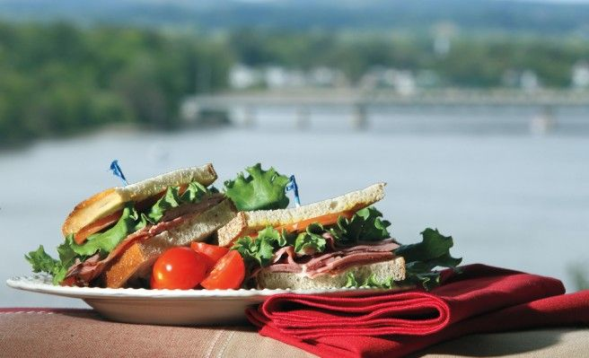 Even a simple sandwich will taste better when eaten by the water. Photography by Julie Oliver.