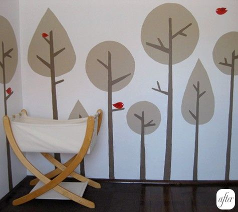 wall art: Wall Art, Nurseries Wall, Nursery Walls, Kids Room, Painting Trees, Room Ideas, Kid Rooms, Future Baby, Baby Room