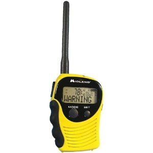 Midland 74-250C SAME Handheld Weather Alert Radio by Midland. $23.98. Amazon.com                Stay informed of current local weather and hazard conditions whether you're camping, hiking, hunting, or just hanging around the house with this handheld Midland weather alert radio. Capable of receiving seven National Oceanic & Atmospheric Association (NOAA) channels--each of which receives emergency advisories on tornadoes, floods, severe thunderstorms, civil danger ...