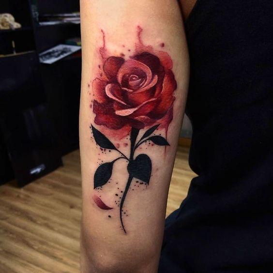 Tatuajes De 【rosas Para Mujer】 【brazo Hombro 372 Fotos】 Tatuajes De Rosas Dibujos De