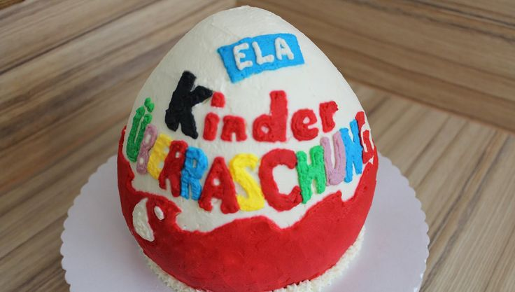 Kinder Surprise Egg Cake with whipped cream How To - no fondant