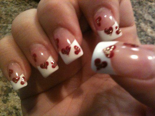 Valentine's day nails done at liberty nails