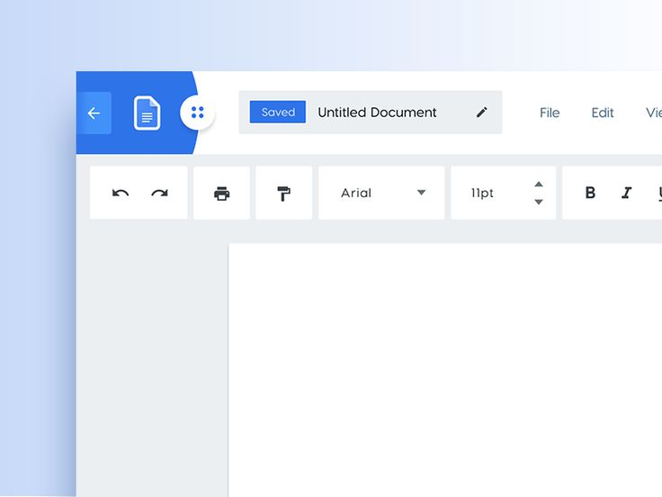 Google Docs Redesign Concept by Malik