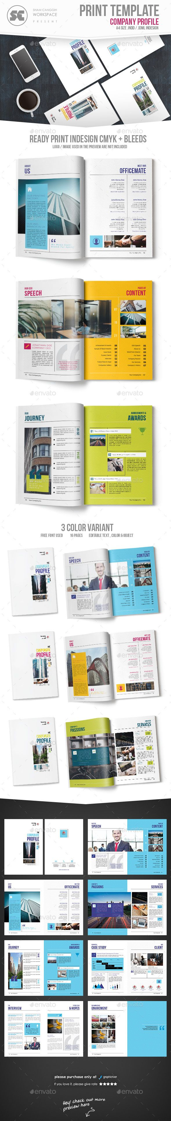 Company Profile Brochure Template InDesign INDD