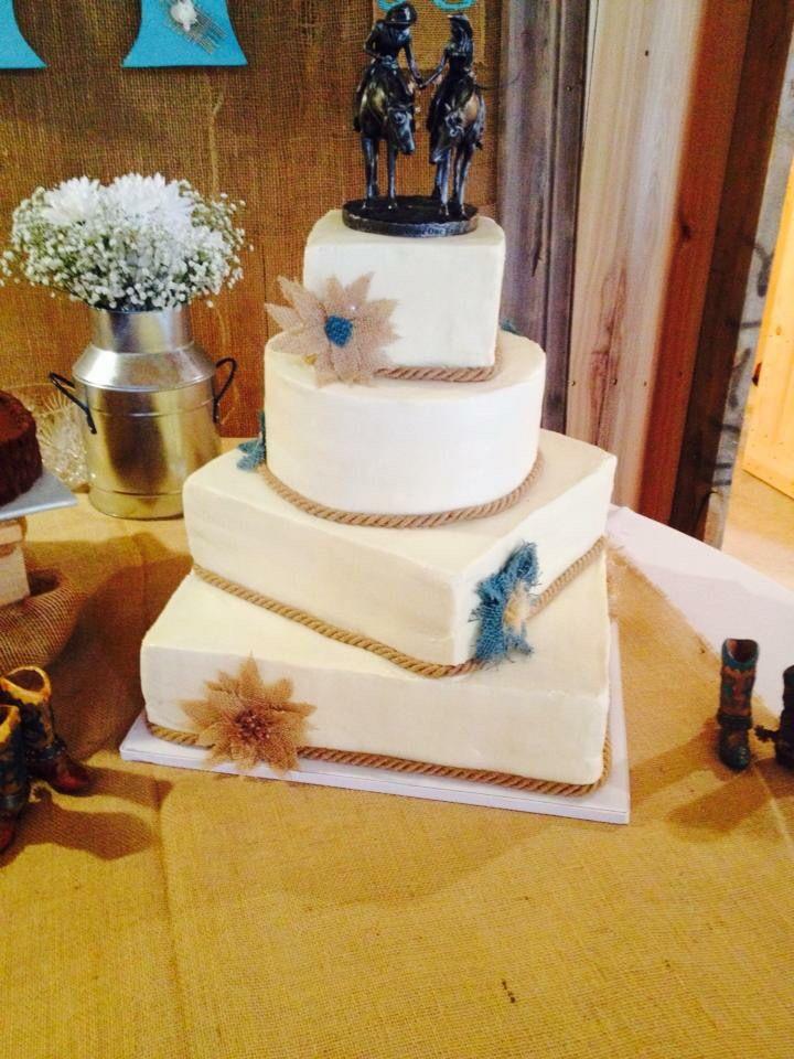 Simple Western Wedding Cake