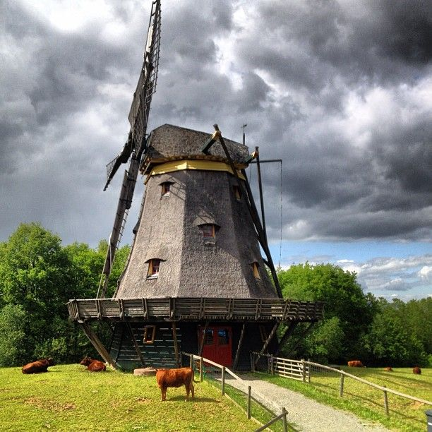 """""""Old windmill in Hessenpark near Frankfurt"""" - Hessenpark is an open-air museum of what Hessian village life was like - very worth a day trip!"""