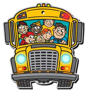 animated school bus cartoon | Indesign Arts and Crafts