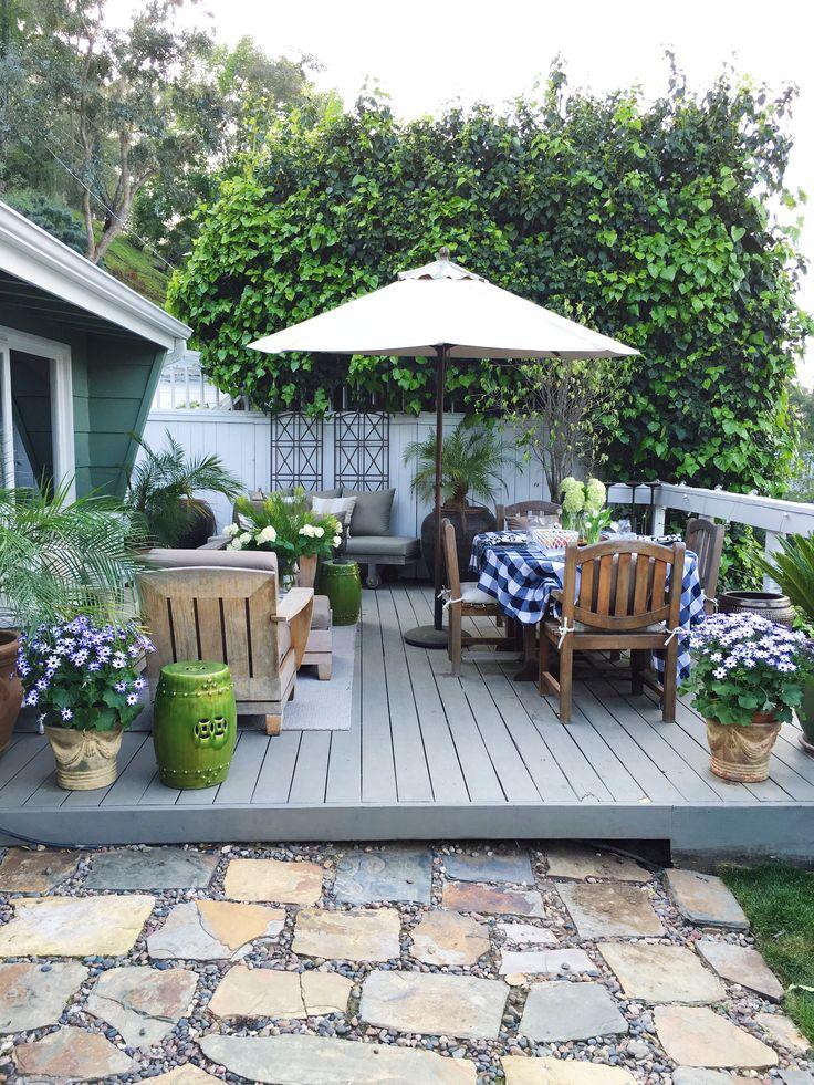 Outdoor Deck Decor – My Winter Garden Spruce Up