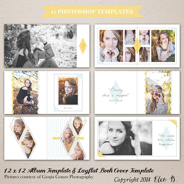 12x12 Album Template - Photoshop Template - A001 - instant download  SHOP AT: etsy.com/shop/eleob SEARCH WITH THE CODE   Pictures by Giorgia Gonzo Photography  Model Mirela #PSD #photography #photoshop #template #marketing #free #fonts #etsy #eleob #12x12 #album #book #layflat #cover #seniors #seniors2015