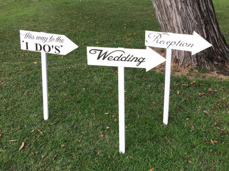 Various wedding direction arrows - for hire @ www.celebrationblackboards.com.au