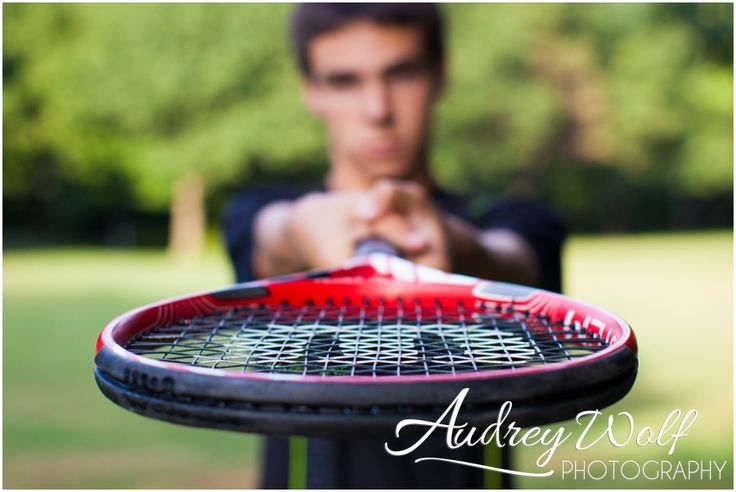 Tennis anyone? senior boy sport pose