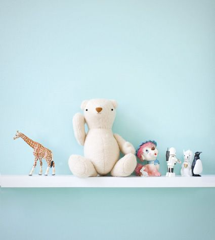what's a workspace without some fun? (love the giraffe and the white bear)