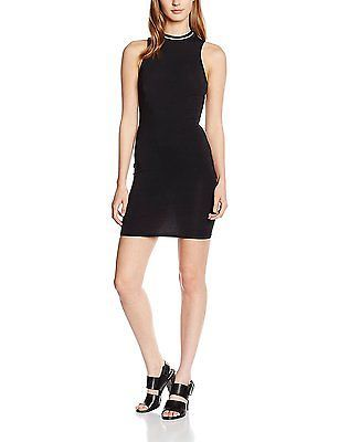 16, Black, New Look Women's Sports Rib Dress NEW