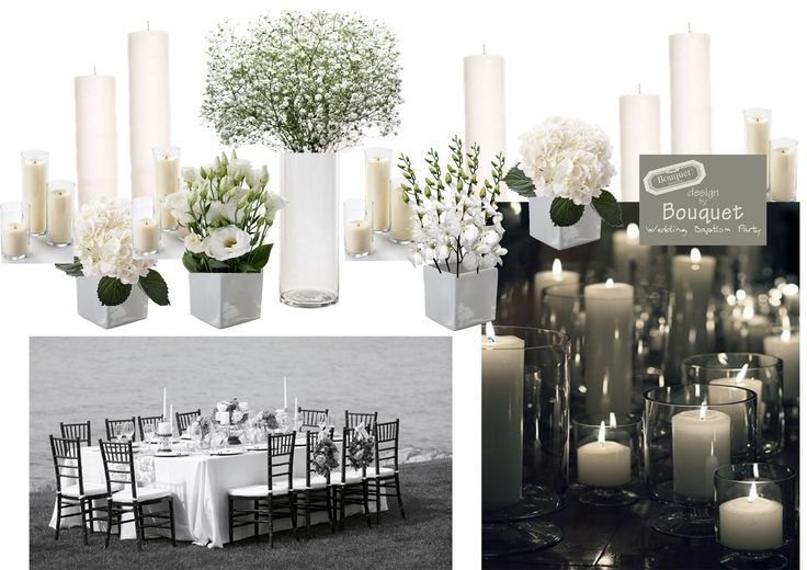 Some inspiration for table decorations with flowers and candles