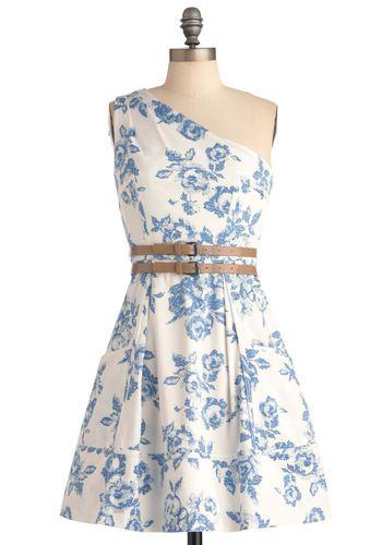 So cute!: Summer Dresses, Spring Dresses, Fashion, Style, Clothing, One Shoulder, Scene Dresses, Places Sets, Floral Dresses