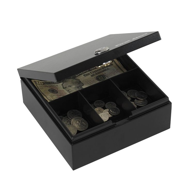 Security Safe Box Master Lock Key Metal Cash Money Coins Jewelry Bill Check Tray #FirstAlert