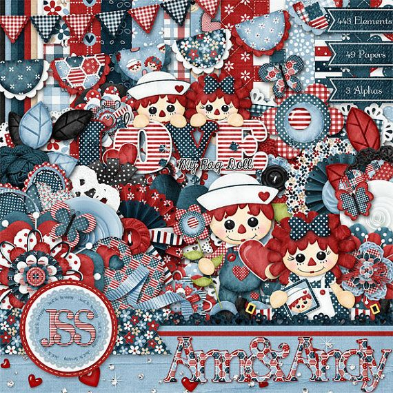 Rag Doll Digital Scrapbooking Kit Digital by JssScrapBoutique, $4.99