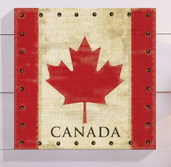 Vintage Canadian Flag Canvas