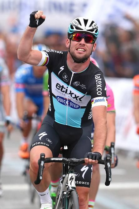 Tour of Turkey Mark Cavendish (Etixx-QuickStep) celebrates his stage 1 win (Tim de Waele/TDWSport.com)