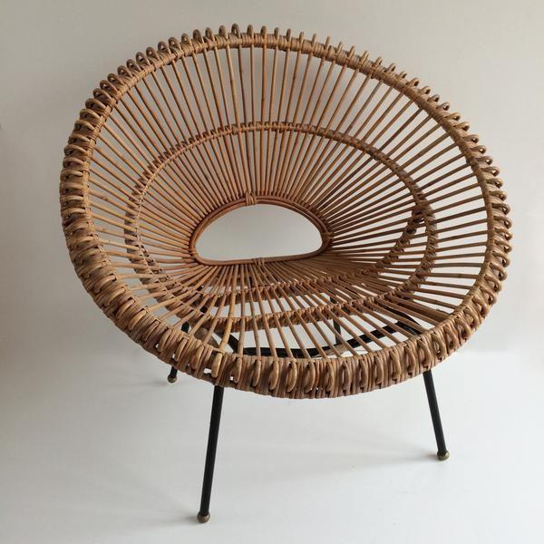 1 Vintage Franco Albini Wicker Rattan Chair - Fauteuil en Rotin Vintage Franco Albini - Free Delivery UK-Livraison Gratuite France