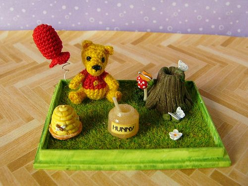 Pooh and the diorama