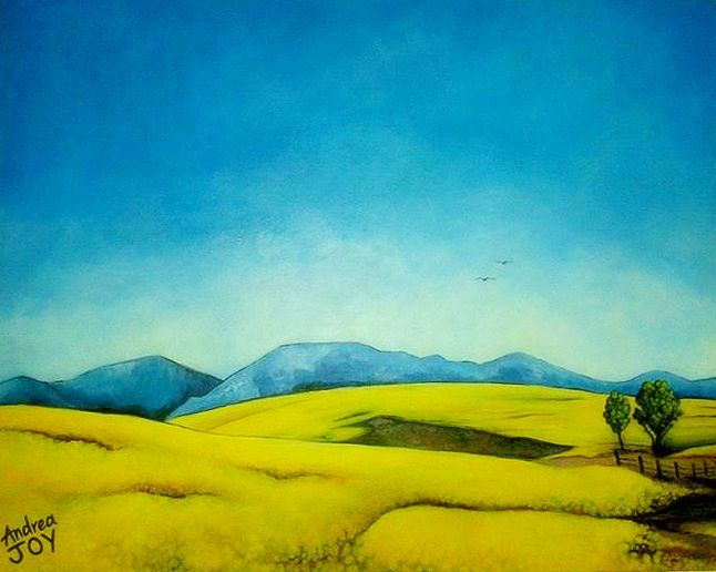 'Fields of Yellow' -  Acrylic on Canvas (75 x 60cm)
