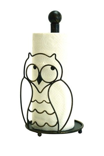 Owl Paper Towel Holder by Boston Warehouse on @HauteLook