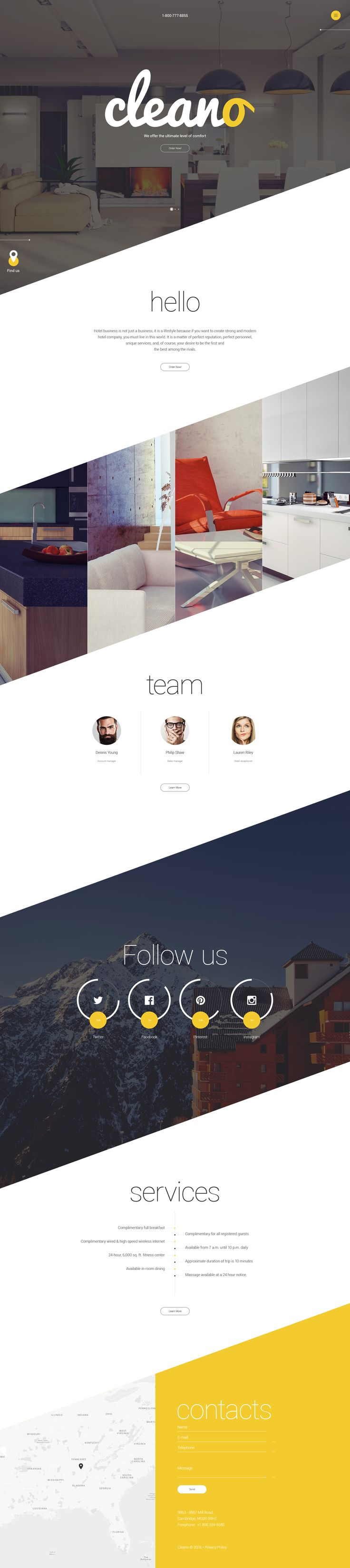 Hotel WebSite Template http://www.templatemonster.com/website-templates/cleano-website-template-57869.html
