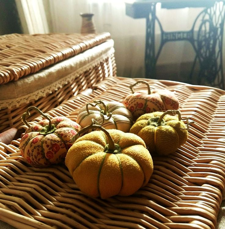 Осенний декор интерьера. Создаем венок с текстильными тыквами - Ярмарка Мастеров - ручная работа, handmade