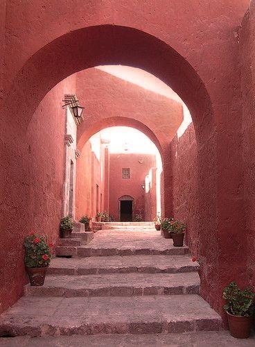 Santa Caterina Monastry in Peru. #Marsala #Pum #Colour #Colouroftheyear #Pantone #Art #Print