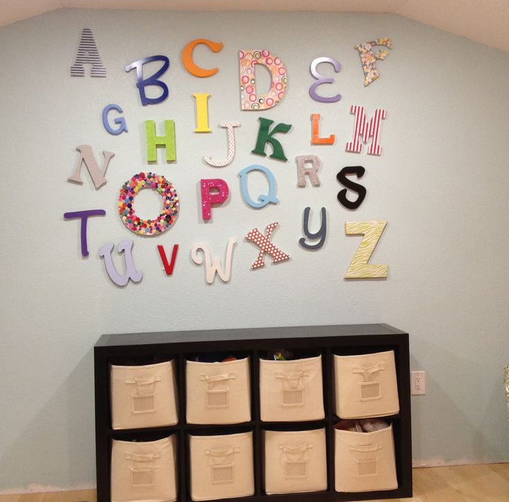 Furniture Playroom Decor The Form Of The Letters Of The Alphabet Designs Attached To The Wall Considerations While Planning The Playroom Decor