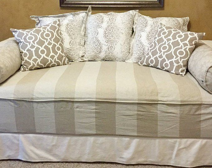 Fitted Daybed Cover In Twin Twin Xl Or Full Mattress Cover Etsy Daybed Covers Mattress Covers Daybed