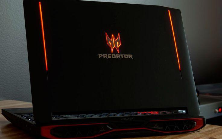 У Acer Predator 15 типичный дизайн игровой линейки Acer — черный прорезиненный пластик, ярко-красные акценты, клавиатура с RGB-подсветкой