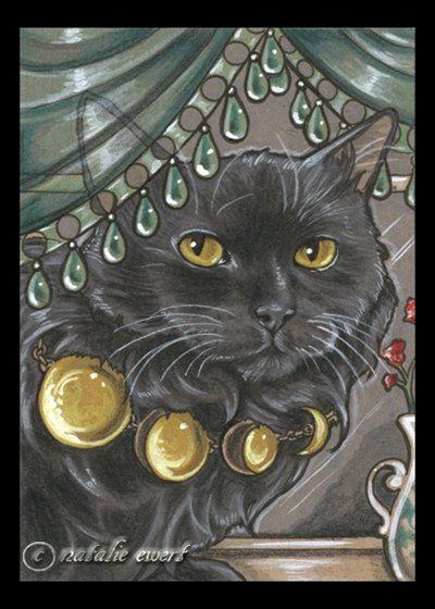 Introducing Duchess Marisa von Fursenberg of Cataria... Bejeweled Cat 53 Art Print (5x7 size)