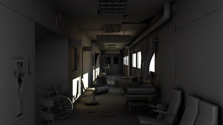Prueba pasillo hospital 3D