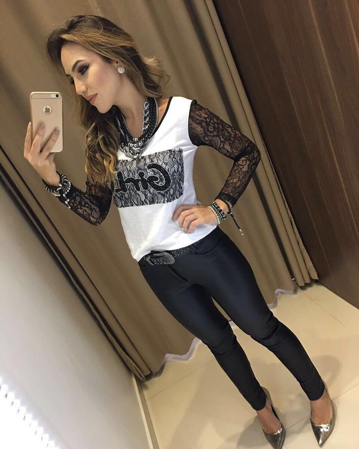 """6,664 curtidas, 75 comentários - Estação Store (@estacaostore) no Instagram: """"Outono/Inverno Blusa Girls   Calca De Couro Nayara Compras on line:…"""""""