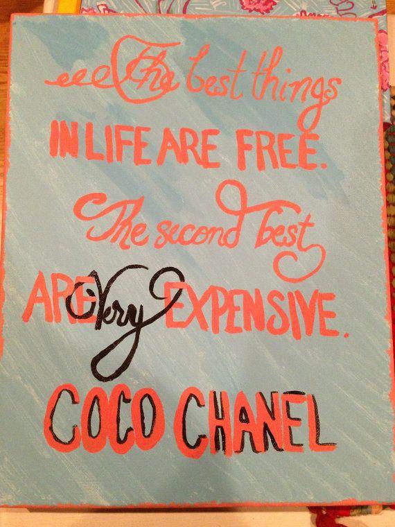 Coco Chanel Quote Canvas