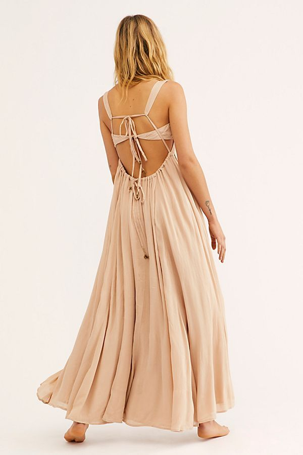 d6df71ae9f06d Yes Please Maxi Dress - Peach Maxi Dress - Boho Maxi Dresses - Open Back Maxi  Dresses - Tie Back Maxi Dresses