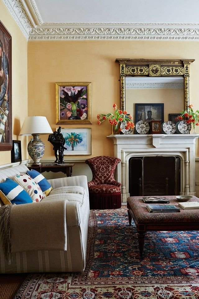 Formerly Howard Hodgkin's house, Linda and David Heathcoat-Amory's London home and studio has an amazing art collection and a bohemian history.