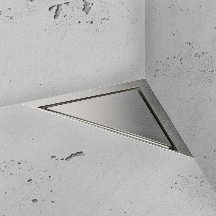 Easy Drain | Aqua Jewels Delta | Shower Drain | Zero+ Brushed Stainless Steel grate - Give your bathroom a perfect finish with the Easy Drain Aqua Jewels  Delta. This triangular shower drain fits perfectly in every type of bathroom and creates a smooth finish. #Bathroom #EasyDrain http://www.easydrain.com/en/delta-zero-brushed-stainless-steel-msi.html