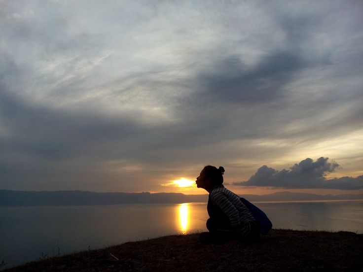 Sunrise at Silalahi Hill,North Sumatera,Indonesia.