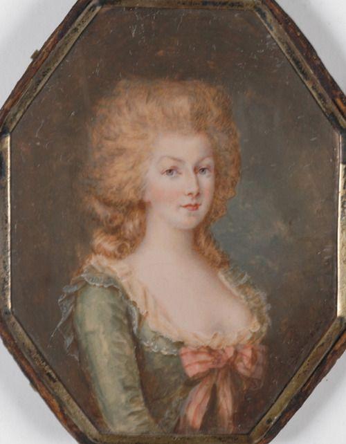 Marie Antoinette - ofärgat hår kanske i hennes ungdom eller möjligen sent 1780-tal