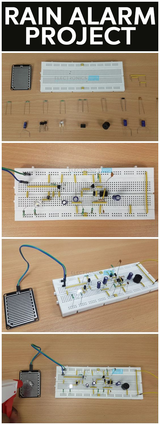 156 Best Elettronica Images On Pinterest Diy Electronics Simple Gauss Detection Switch Forum Circuits Rain Alarm Project Is A But Very Useful That Detects Water