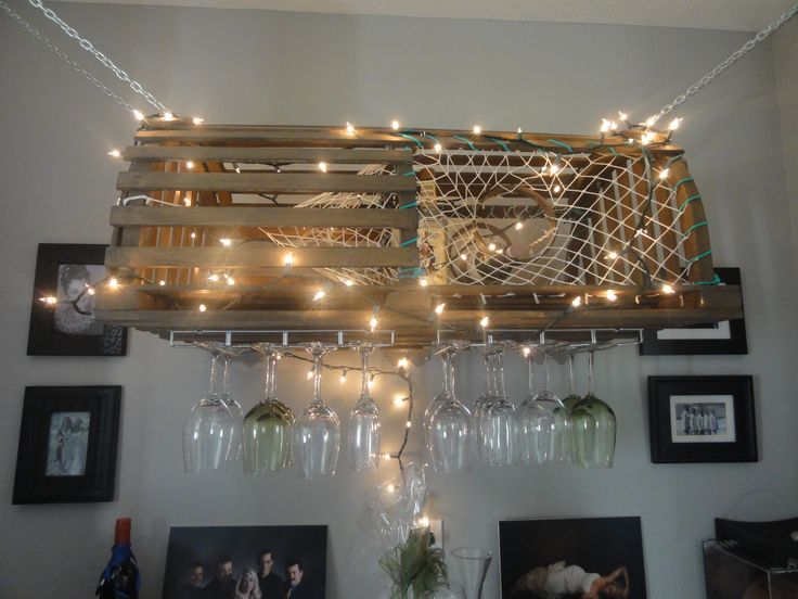 My Lobster Trap Wine Glass Rack:) Talk About A C.B Kitchen Party!